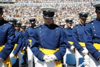 Air Force cadets praying