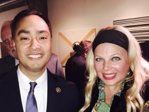 Congressman Castro and Edwina Rogers