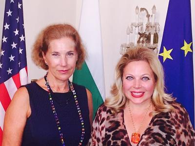 SPI CEO Edwina Rogers and HE Elena Poptodorova